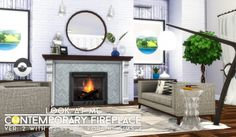 Simsational designs: UPDATED - Look At Me! Fireplace and Walls • Sims 4 Downloads