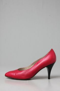 12426664ef8 Vintage 1980s shoes heels bicolore RED and IVORY. See more. The Rubellite  Tourmaline Pumps - Pumps