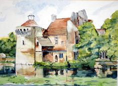 """Scotney Castle"" by Alain J. Godbout"