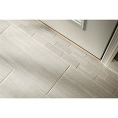 Style Selections 12 x 24 Leonia Silver Glazed Porcelain Floor Tile