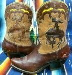 so incredible. 1940's bucking bronco boots. worth a pretty penny....