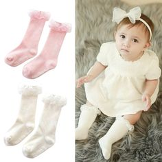 Sweet Kid Baby Socks Toddler Girl Princess Soft Cotton Lace Knee Length Socks X16