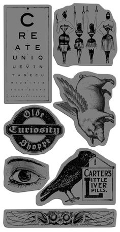 Olde Curiosity Shoppe Cling Stamps 1! #newcollection #graphic45 #CHA