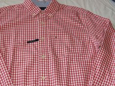 Tommy Hilfiger dress shirt 7871240 Holly Berry 619 S classic Men's long sleeve #TommyHilfiger #ButtonFront