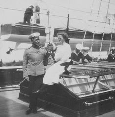 bulletproofjewels: dearroman14: Olga with an officer on the Standart, circa 1910. I love Olga's smile :/ That's the commander, Nikolai Sablin, he remained loyal to the family even after Nicky's abdication. He's been in heaps of photographs and doesn't get the attention he deserves! [x]