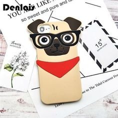 Pug-Phone-Cover-Cute-Animal-Cartoon-Case-Lovely-Pet-DogSoft-Silicone-Phone-Cases