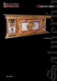 Mesas de altar Gothic Furniture, Furniture Design, Cathedral Basilica, Baroque Design, Church Design, Luxury Interior Design, Counter, Catholic, Cathedrals