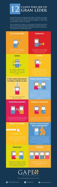 Hola: Una infografía con 12 claves para ser un gran líder. #emprender #empreujat #empreaccionate