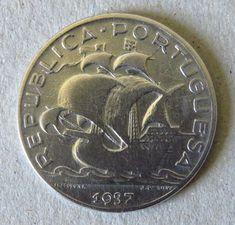 Atualmente nos leilões da #Catawiki: Portugal  República - 5 Escudos - 1937 - Prata