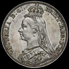 1889 Queen Victoria Jubilee Head Silver Crown, EF #2