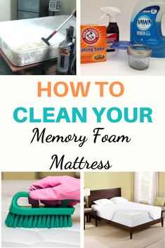 Cleaning stubborn pet or human urine stains out of a mattress is not as difficult as it used to be. Learn how to clean a memory foam mattress with these easy steps. Diy Mattress, Mattress Cleaning, Bedroom Cleaning, How To Clean Mattress, Comfort Mattress, House Cleaning Tips, Cleaning Hacks, Green Cleaning, Hacks Diy