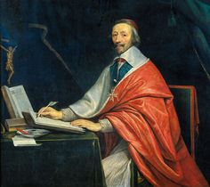 Philippe de Champaigne, Le Cardinal de Richelieu écrivant, XVIIe s., Chancellerie des Universités de Paris.