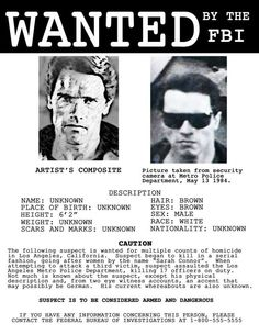 Terminator 2 - 'wanted' sheet
