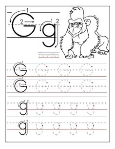 Free Printable Tracing Letter G Activities | Learning Printable