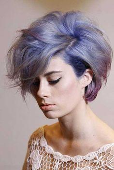 Short Purple Hair 2014