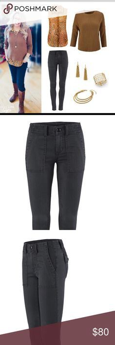 """CAbi Pants Posh Piccadilly """"The Quest"""" pants. Color is """"Shadow"""". CAbi Pants Skinny"""