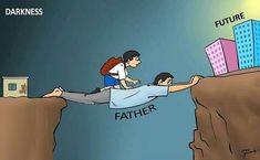 Heartwarming Illustrations Of Dads Demonstrate How Important Their Role Is Meaningful Pictures, Powerful Pictures, Reality Of Life, Reality Quotes, Pictures With Deep Meaning, Satirical Illustrations, St Ignatius, Deep Art, Dad Quotes