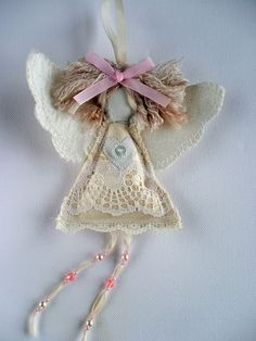 Shabby Chic Angel. Baby Daughter Baptism Gift. door SwinkyDoo