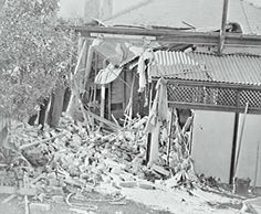 bombed house at bellevue hill 8th june 1942 during world war ii australia came under bellevue hill post office