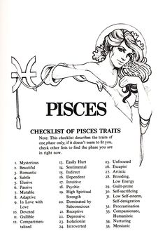 "ghostflowerdreams: ""Sex Signs by Judith Bennett (Illustrations by Craig Carl) The other horoscope signs are HERE. Pisces Traits, Pisces And Aquarius, Pisces Love, Zodiac Signs Pisces, Astrology Pisces, Pisces Quotes, Pisces Woman, Zodiac Star Signs, Horoscope Signs"