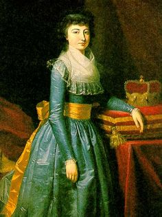 1790s Unknown painter - Archduchess Maria Leopoldine of Austria-Este, Electress of Bavaria