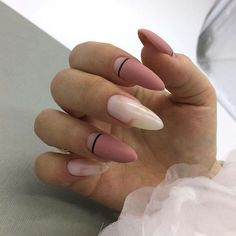 Make me such ⠀ # nail # nailart # nails # french # gellac # extension nail # manicure # design nail # shellac # nailpolish # nailart . Acrylic Nail Shapes, Cute Acrylic Nails, Cute Nails, Pretty Nails, Perfect Nails, Gorgeous Nails, Hair And Nails, My Nails, Almond Nails Designs