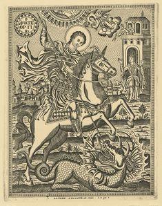 Αγιορειτική Πινακοθήκη: Χάρτινες εικόνες του Αγίου Όρους Saint George And The Dragon, Religious Images, Catholic Art, Orthodox Icons, Painting Lessons, Byzantine, Line Art, Vintage World Maps, Cosmic