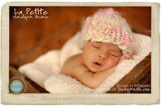 Baby Girl Hat Handspun Beanie Photo Prop in by TrickyKnits on Etsy, $32.00