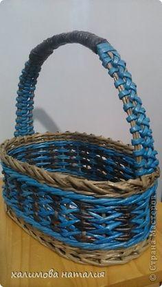 Поделка изделие Плетение Мои плетенки Бумага газетная фото 2