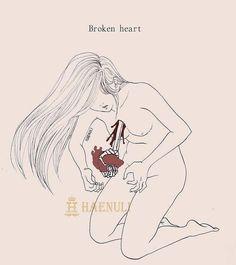 """Broken heart """"Don't kill me"""" (c) Haenuli All Rights Reserved"""