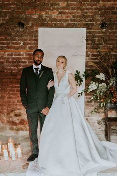 diverse wedding couple bride and groom at london wedding venue the Charterhouse