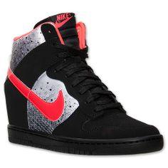 Yes!!! [Women's Nike Dunk Sky Hi Queen Of Hearts Casual Shoes| FinishLine.com | Black/Laser Crimson/White]