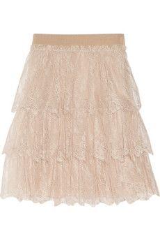 Valentino Tiered lace mini skirt  NET-A-PORTER.COM - StyleSays