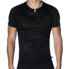 SKINNY Core Clip T-Shirt by Andrew Christian in Black