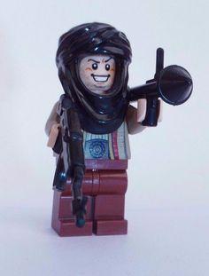NEW CUSTOM REAL LEGO BATMAN WEAPONS SOLDIER TALIBAN BAD GUY TERRORIST BRICK WARS…