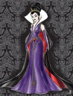 Evil Queen sketch for the Disney Villians Designer Collection