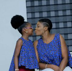 Ankara Stunts For Mother And Daughter Ankara Styles For Kids, African Dresses For Kids, Trendy Ankara Styles, African Clothes, African Attire, African Wear, African Women, African Print Fashion, African Fashion Dresses