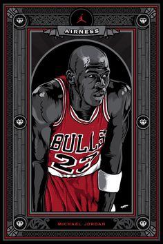 Michael Jordan Illustrated Card Art