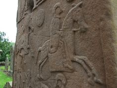A scene from one of the Aberlemno Pictish stones.