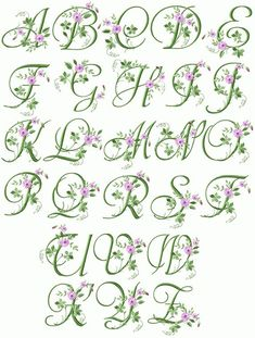 Machine Embroidery Designs Crochet Lace Handkerchief with Elegant Floral Initials Design Monogram Alphabet ( Embroidery Alphabet, Embroidery Monogram, Learn Embroidery, Machine Embroidery Patterns, Embroidery Fonts, Silk Ribbon Embroidery, Embroidery Thread, Flower Embroidery, Embroidery Boutique