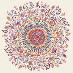 Sunflower Mandala Art Print