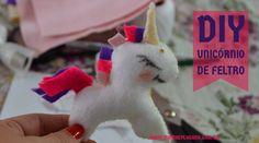 DIY Unicórnio em Feltro para decorar festa infantil_Super fácil!