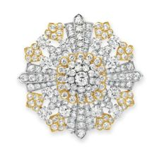 Lot 377 - A DIAMOND BROOCH, BY DAVID WEBB