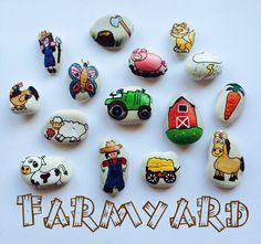 Story Stones  Farmyard Set by LittlebyNature on Etsy