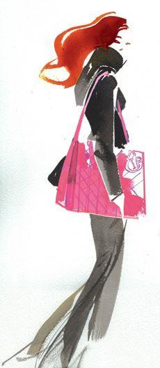 Fashion illustration by Bill Donovan Illustration Mode, Fashion Illustration Sketches, Fashion Design Sketches, Fashion Drawings, Fashion Graphic, Fashion Prints, Fashion Art, Glam Rock, Beautiful Sketches