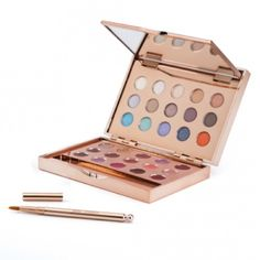 Jane Iredale Glamour Lip & Eye Palette Jane Iredale, the skin care makeup, Never Used Eye & Lip Palette                                                                         Rosegold mirrored compact  Great for traveling                 15 Eyeshadows      10 PureMoist Lipsticks  and                    5 PureGloss Lip Glosses                                                 Rose Gold Lip Brush is included                                Eye shadow is protected by a thin plastic sheet…