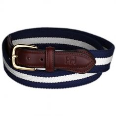 This belt is so awesome  PAUL HEWITT Belt Navy Blue-White