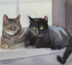 Ally Benbrook Watercolors Watercolor Cat, Watercolor Animals, Selling Paintings, Raining Cats And Dogs, Window Art, Dog Art, Beautiful Paintings, Crazy Cats, Cool Cats