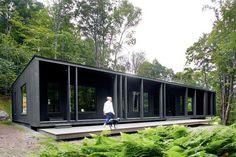 Une maison façon loft dans la forêt canadienne