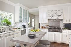 Fresh all white kitchen in Hollywood Hills, CA